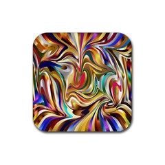 Wallpaper Psychedelic Background Rubber Square Coaster (4 Pack)