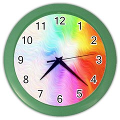 Psychedelic Background Wallpaper Color Wall Clock