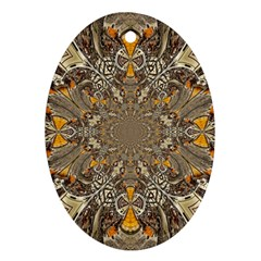 Abstract Digital Geometric Pattern Ornament (oval)