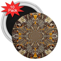 Abstract Digital Geometric Pattern 3  Magnets (10 Pack)