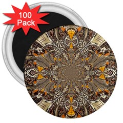 Abstract Digital Geometric Pattern 3  Magnets (100 Pack)