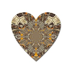 Abstract Digital Geometric Pattern Heart Magnet