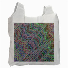 Psychedelic Background Recycle Bag (two Side)