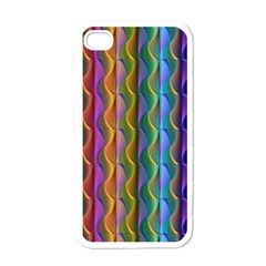 Background Wallpaper Psychedelic Iphone 4 Case (white)