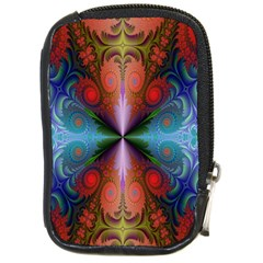 Fractal Background Design Compact Camera Leather Case