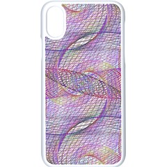 Purple Background Abstract Pattern Iphone Xs Seamless Case (white)