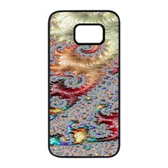 Fractal Artwork Design Pattern Samsung Galaxy S7 Edge Black Seamless Case by Sudhe