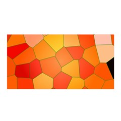 Background Pattern Of Orange Mosaic Satin Wrap