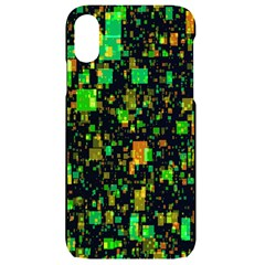Squares And Rectangles Background Iphone Xr Black Frosting Case