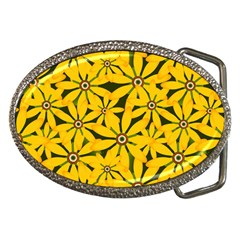 Texture Flowers Nature Background Belt Buckles