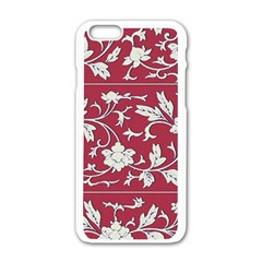 Floral Pattern Background Iphone 6/6s White Enamel Case
