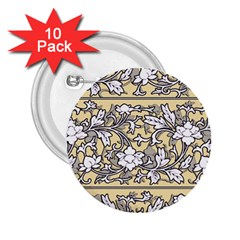 Floral Pattern Background 2 25  Buttons (10 Pack)  by Sudhe