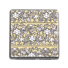 Floral Pattern Background Memory Card Reader (square 5 Slot)