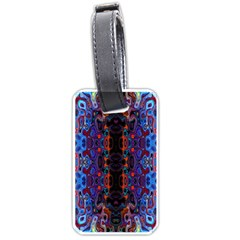 Kaleidoscope Art Pattern Ornament Luggage Tags (two Sides)
