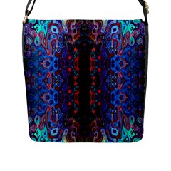 Kaleidoscope Art Pattern Ornament Flap Closure Messenger Bag (l)
