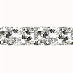 Black And White Floral Pattern Background Large Bar Mats