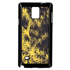 Artistic Yellow Background Samsung Galaxy Note 4 Case (black)