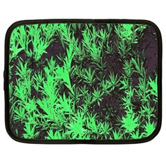 Green Etched Background Netbook Case (large)