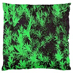 Green Etched Background Large Cushion Case (two Sides)