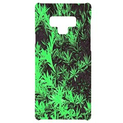 Green Etched Background Samsung Note 9 Frosting Case
