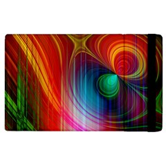 Background Color Colorful Rings Apple Ipad 2 Flip Case