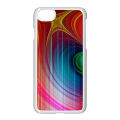 Background Color Colorful Rings Iphone 7 Seamless Case (white) by Sudhe