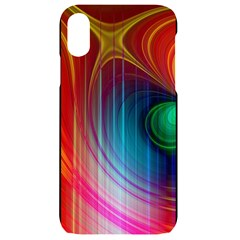 Background Color Colorful Rings Iphone Xr Black Frosting Case