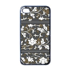 Floral Pattern Background Iphone 4 Case (black)