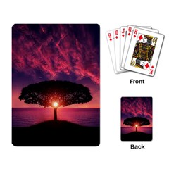 Flight Landscape Nature Sky Playing Cards Single Design by Sudhe