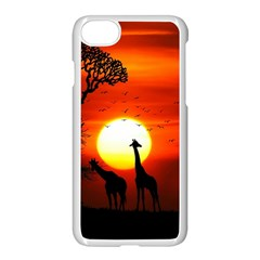 Animals Birds Dawn Giraffe Iphone 8 Seamless Case (white) by Sudhe