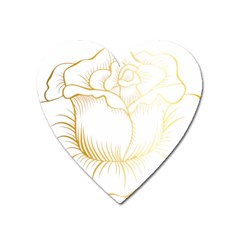 Golden Rose Stakes Heart Magnet by Sudhe