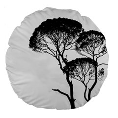 Silhouette Photo Of Trees Large 18  Premium Flano Round Cushions