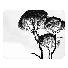 Silhouette Photo Of Trees Double Sided Flano Blanket (large)