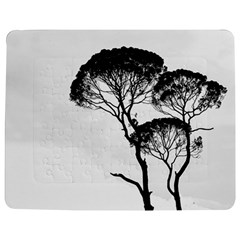 Silhouette Photo Of Trees Jigsaw Puzzle Photo Stand (rectangular) by Sudhe