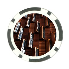 Abstract Architecture Building Business Poker Chip Card Guard (10 Pack)