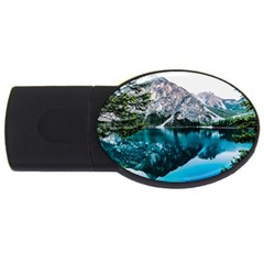 Daylight Forest Glossy Lake Usb Flash Drive Oval (4 Gb)