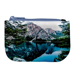 Daylight Forest Glossy Lake Large Coin Purse