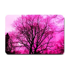 Pink Silhouette Tree Small Doormat