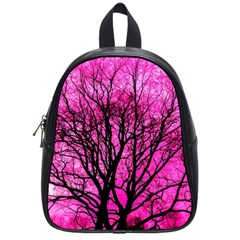 Pink Silhouette Tree School Bag (small)