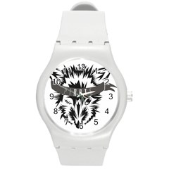 Pirate Rat Animal Pet Danger Round Plastic Sport Watch (m) by Sudhe