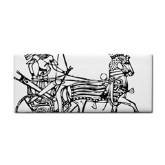 Line Art Drawing Ancient Chariot Hand Towel
