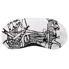 Line Art Drawing Ancient Chariot Sleeping Masks