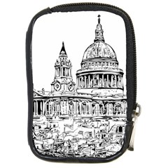 Line Art Architecture Church Compact Camera Leather Case