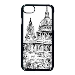 Line Art Architecture Church Iphone 8 Seamless Case (black) by Sudhe