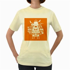 Taiwan Changhua Wikiproject Women s Yellow T Shirt