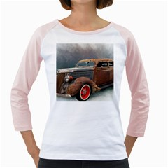 Auto Old Car Automotive Retro Girly Raglan