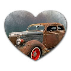 Auto Old Car Automotive Retro Heart Mousepads