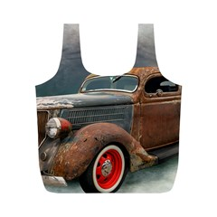 Auto Old Car Automotive Retro Full Print Recycle Bag (m)