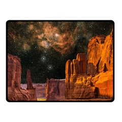 Geology Sand Stone Canyon Fleece Blanket (small)