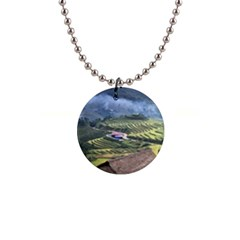 Rock Scenery The H Mong People Home 1  Button Necklace